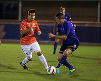 The number 24 ranked Furman Paladins took on the number 20 ranked Clemson Tigers in an inter-conference game at Clemson's Riggs Field.  Furman defeated Clemson 2-1.  Thalse De Mello Moreno (13), Kevin Pahl (14)