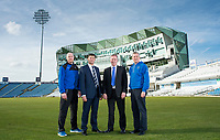 Picture by Allan McKenzie/SWpix.com - 07/03/2017 - Commercial - Cricket - Yorkshire County Cricket Club with The Skipton Building Society - Headingley Cricket Ground, Leeds,  England - Yorkshire's Director of Cricket Martyn Moxon with the Skipton Building Society's Chief Executive David Cutter along with Andrew Gale & Mark Arthur.
