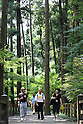 July 20, 2010 - Niiza, Japan - Foreign tourists visit Heirin-ji, a Rinzai temple of the Myoshin-ji branch located in Niiza city, Saitama prefecture, Japan, on July 20, 2010. The visit is part of the 'True Japan Saitama - Zen Medidation and Buddhist Vegetarian Cuisine' tour, organized by the travel agency JTB for leisure travelers.