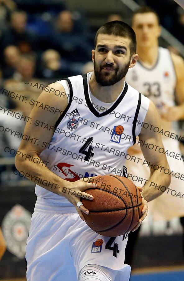 Aleksandar Cvetkovic Aba regionalna liga Partizan - Igokea 27.12.1015. December 27. 2015. (credit image & photo: Pedja Milosavljevic / STARSPORT)