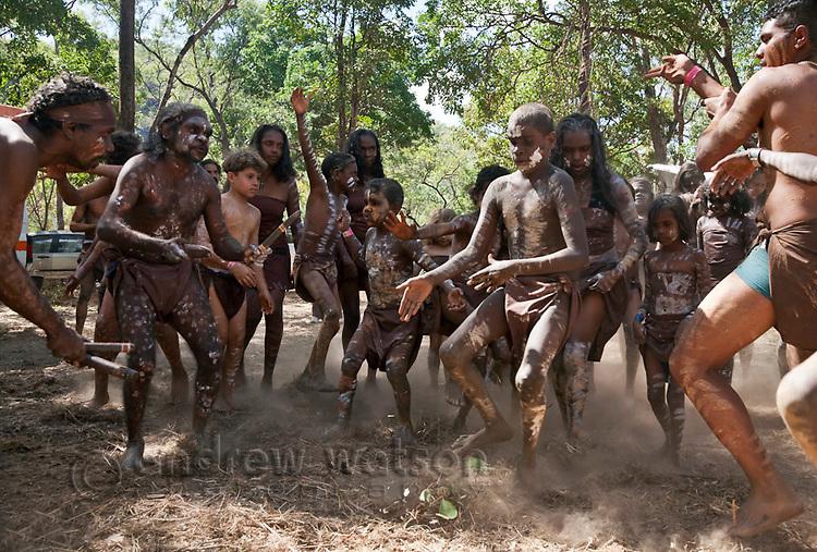 Indigenous dancer at the Laura Aboriginal Dance Festival.  Laura, Queensland, Australia