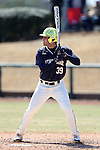 CARY, NC - MARCH 05: Notre Dame's Jake Johnson. The Monmouth University Hawks played the University of Notre Dame Fighting Irish on March 5, 2017, at USA Baseball NTC Field 2 in Cary, NC in a Division I College Baseball game, and part of the Irish Classic tournament. Notre Dame won the game 4-0.