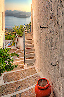 A house in the traditional village of Plaka in Milos, Greece