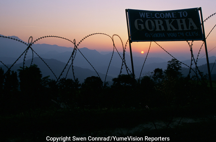 Gorkha city, Birth place of the first king of Nepal, nest of cheap but the best soldier for the British army, are under siege from the Maoist since 1996..-The full text reportage is available on request in Word format