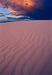 Ripples in sand at White Sands National Monument in New Mexico, USA.