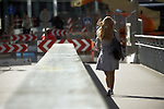 A summers day in Copenhagen, A young girl crosses a bridge