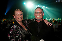 Green Gold Award winners Steph and Nick Fry from IdealCup. Wellington Gold Awards at TSB Bank Arena, Wellington, New Zealand on Thursday, 9 July 2015. Photo: Dave Lintott / lintottphoto.co.nz