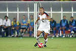 21 August 2008: Angela Hucles (USA). The United States Women's National Team defeated Brazil's Women's National Team 1-0 after extra time at the Worker's Stadium in Beijing, China in the Gold Medal match in the Women's Olympic Football tournament.