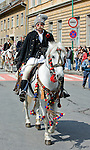 Junii parade in Brasov, Transylvania, Romania, Sunday 22 April 2012