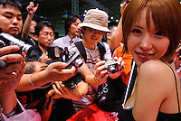 Attendees at Tokyo Adult Expo, Makuhari Messe , Makuhari, Chiba Prefecture, Japan, April 5, 2007.