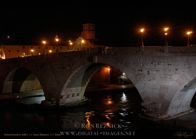 Ponte Cestio 45 BC Isola Tiberina Tiber River Rome