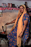 Kismat Nushin, mother and house wife likes to use her fitness bicycle to try and lose weight.