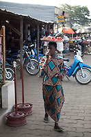Parakou,Benin. December 2009. One of the markets in Parakou.
