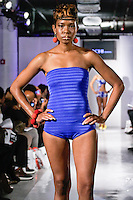 Model walks the runway in an outfit by Chigozie Anaele, for the Kachi Designs Spring Summer 2012 fashion show, during BK Fashion Weekend Spring Summer 2012.