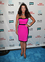 Lisa Vanderpump.Bravo's Andy Cohen's Book Release Party For &quot;Most Talkative: Stories From The Front Lines Of Pop Held at SUR Lounge, West Hollywood, California, USA..May 14th, 2012.full length black dress pink hand on hip.CAP/ADM/KB.&copy;Kevan Brooks/AdMedia/Capital Pictures.