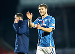 St Johnstone v Kilmarnock...07.11.15  SPFL  McDiarmid Park, Perth<br /> David Wotherspoon applauds the crowd at full time<br /> Picture by Graeme Hart.<br /> Copyright Perthshire Picture Agency<br /> Tel: 01738 623350  Mobile: 07990 594431