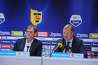 VOETBAL: CAMBUURSTADION: LEEUWARDEN: 03-11-2013, Cambuur-Feyenoord, uitslag 0- 2, Dwight Lodeweges, Ronald Koeman, ©foto Martin de Jong