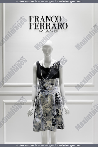 Franco Ferraro Milano fashion store display in Tokyo Japan