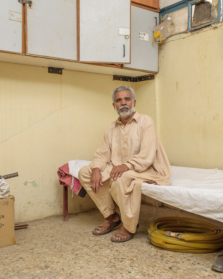 Mohammad Nawab, a tannery worker from Karachi.