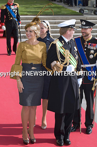 """PRINCE WILLEM-ALEXANDER AND PRINCESS MAXIMA OF HOLLAND.Religious Wedding Ceremony of HRH the Hereditary Grand Duke and Countess Stéphanie de Lannoy at Cathedral of Our lady of Luxembourg, Luxembourg_20-10-2012.Mandatory credit photo: ©Dias/NEWSPIX INTERNATIONAL..(Failure to credit will incur a surcharge of 100% of reproduction fees)..                **ALL FEES PAYABLE TO: """"NEWSPIX INTERNATIONAL""""**..IMMEDIATE CONFIRMATION OF USAGE REQUIRED:.Newspix International, 31 Chinnery Hill, Bishop's Stortford, ENGLAND CM23 3PS.Tel:+441279 324672  ; Fax: +441279656877.Mobile:  07775681153.e-mail: info@newspixinternational.co.uk"""