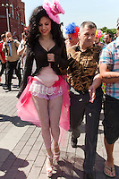 Moscow, Russia, 28/05/2011..Plain-clothes police detain gay rights activists at an attempted gay pride parade in central Moscow. Several dozen people were arrested during clashes as Russian nationalists attacked gay rights activists during their sixth attempt to hold a gay pride parade in the Russian capital.