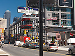 Dundas Square street sign at Yonge and Dundas streets. Downtown Toronto, Ontario, Canada 2010.