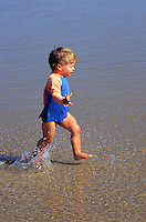 2 year old baby boy at beach
