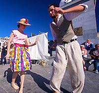 Getting down 1950s style - dance and clothes - at the Brussels Summer fest. Viva Rock &amp; Roll!