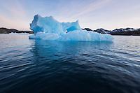icebergsdrift in water of Kong Oscars Havn, Tasiilaq, Greenland