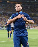 FUSSBALL  EUROPAMEISTERSCHAFT 2012   VORRUNDE Ukraine - Frankreich               15.06.2012 Torjubel: Yohan Cabaye (Frankreich)