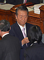June 26, 2012, Tokyo, Japan - Ichiro Ozawa, a stalwart member of the ruling Democratic Party of Japan, casts his ballot during a plenary session of the Diet lower house in Tokyo on Tuesday, June 26, 2012..The House of Representatives passed the sales tax hike legislation with the backing of two main opposition parties by 363 to 96 votes. Ozawa and his followers voted against the legislation, causing a severe division within the ruling party. (Photo by Natsuki Sakai/AFLO).