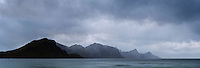 Stormy skies over Haukland Beach, Lofoten Islands, Norway
