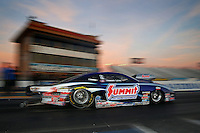 Feb 3, 2015; Chandler, AZ, USA; NHRA pro stock driver Jason Line during testing at Wild Horse Motorsports Park. Mandatory Credit: Mark J. Rebilas-USA TODAY Sports