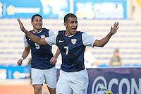 PUEBLA, Mexico - Feb. 26, 2013: The U.S. Under-20 Men&rsquo;s National Team in the 2013 CONCACAF U-20 Championship, defeating Canada 4-2 in the quarterfinals at Estadio Ol&iacute;mpico Universitario Lobos BUAP.