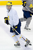 Chris Summers (Michigan 4) takes part in the Wolverines' morning skate at the Xcel Energy Center in St. Paul, Minnesota, on Friday, October 12, 2007, during the Ice Breaker Invitational.