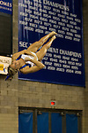 Junior Holly Cunningham dismounts from the balance beam during Thursdays blue vs white scrimmage. in Lexington, Ky., on Thursday, December, 6, 2012. Photo by James Holt | Staff