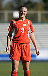 Clemson's Candace Hein on Wednesday, November 2nd, 2005 at SAS Stadium in Cary, North Carolina. The Florida State University Seminoles defeated the Clemson University Tigers 4-0 during their Atlantic Coast Conference Tournament Quarterfinal game.