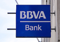 BBVA, Banco Bilbao Vizcaya Bank Sign - Aug 2013.