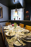 Sonderho Hotel and Restaurant with quaint tables and chairs furniture on Fano Island, South Jutland, Denmark