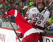 Noah Bauld (Cornell - 9), Jacob Olson (Harvard - 26) - The Harvard University Crimson defeated the visiting Cornell University Big Red on Saturday, November 5, 2016, at the Bright-Landry Hockey Center in Boston, Massachusetts.