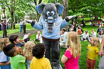 05/24/2011 - Medford/Somerville, Mass. - Children surround Jumbo at the Bacow's farewell picnic on Tuesday, May 24, 2011.   (Alonso Nichols/Tufts University).