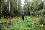 Vladimir Shashilov, a local guide, hunts for mushrooms on Saturday, August 24, 2013 in Suzdal, Russia.