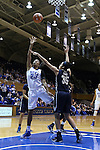29 January 2015: Duke's Oderah Chidom (22) and Pitt's Stasha Carey (35). The Duke University Blue Devils hosted the University of Pittsburgh Panthers at Cameron Indoor Stadium in Durham, North Carolina in a 2014-15 NCAA Division I Women's Basketball game. Duke won the game 62-45.