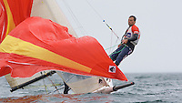 ENGLAND, Falmouth, Restronguet Sailing Club, 8th September 2009, International 14 Prince of Wales Cup Week, GBR1463 Julian Pearson