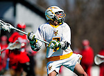 19 March 2011: University of Vermont Catamount Attacker Geoff Worley, a Junior from Coronado, CA in action against the St. John's University Red Storm at Moulton Winder Field in Burlington, Vermont. The Catamounts defeated the visiting Red Storm 14-9. Mandatory Credit: Ed Wolfstein Photo