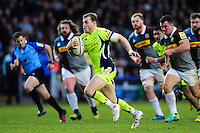 Will Addison of Sale Sharks goes on the attack. Aviva Premiership match, between Harlequins and Sale Sharks on January 7, 2017 at the Twickenham Stoop in London, England. Photo by: Patrick Khachfe / JMP