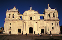 The Catedral de Leon in Leon, Nicaragua. This is the largest cathedral in Nicaragua.