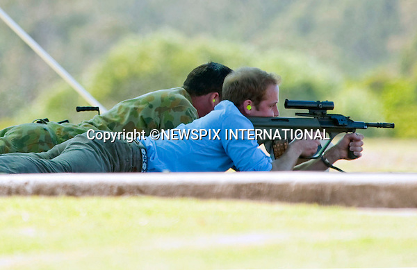 """PRINCE WILLIAM.Prince William visited the 3rd Battalion, The Royal Australian Regiment, Holsworhty Barracks Sydney.The Prince took time to meet 100 soldiers including some who have just returned from active service in Afghanistan. William spent approximately 15 minutes on a live-firing range, where he fired 123 rounds on a F88 Austeyr and a F89 Minimi (the Australian equivalent of a SA80) and also received an Australian infantry hat. Holsworhty Barracks, Sydney, Australia_20/01/2010..Mandatory Credit Photo: ©DIAS-NEWSPIX INTERNATIONAL..**ALL FEES PAYABLE TO: """"NEWSPIX INTERNATIONAL""""**..IMMEDIATE CONFIRMATION OF USAGE REQUIRED:.Newspix International, 31 Chinnery Hill, Bishop's Stortford, ENGLAND CM23 3PS.Tel:+441279 324672  ; Fax: +441279656877.Mobile:  07775681153.e-mail: info@newspixinternational.co.uk"""