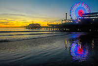 The Santa Monica Pier amid the sunset on Thursday, November 4, 2010.