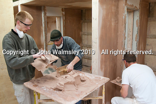 Plastering students, Able Skills, Dartford, Kent.